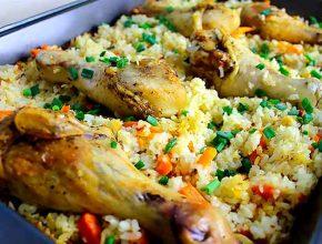рецепт курицы с рисом в духовке