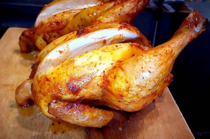 Курица в соевом соусе в духовке, запеченная целиком