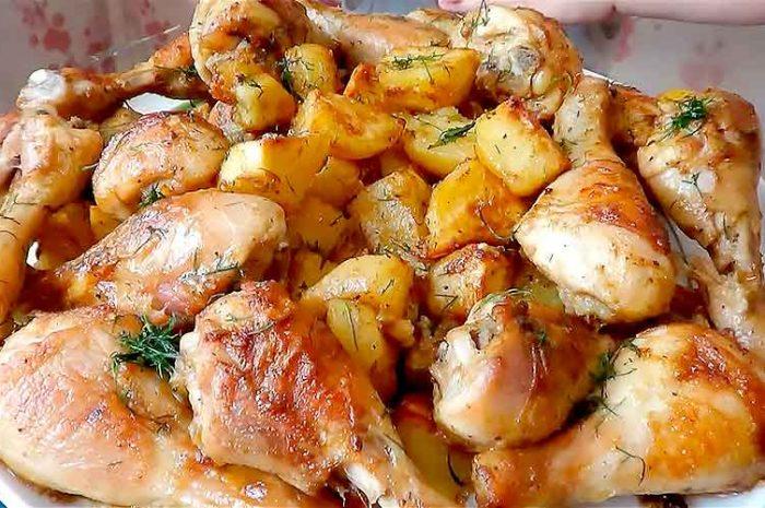 Курица в соевом соусе запеченная в духовке