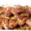 Куриные крылышки запеченные с картофелем в духовке