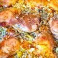 Курица с перловой и овощами