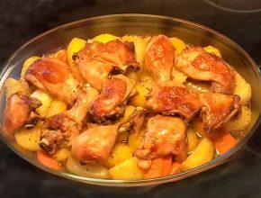 Курица в соевом соусе с картошкой