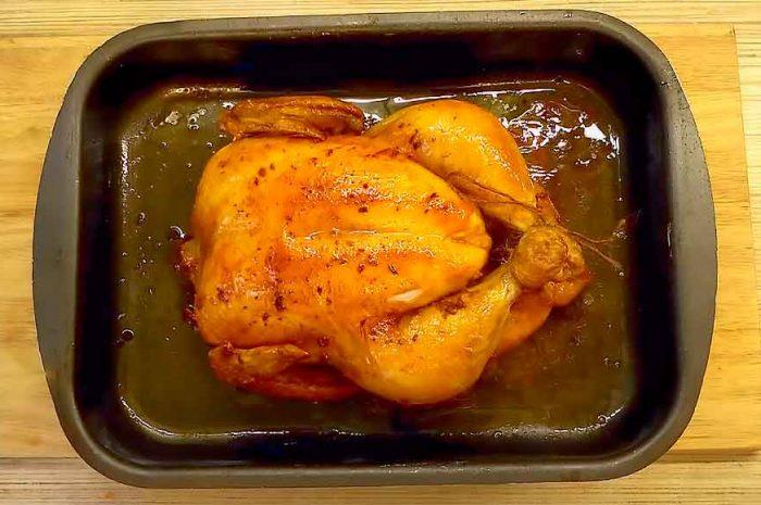 Курица гриль в духовке, без вертела по-домашнему