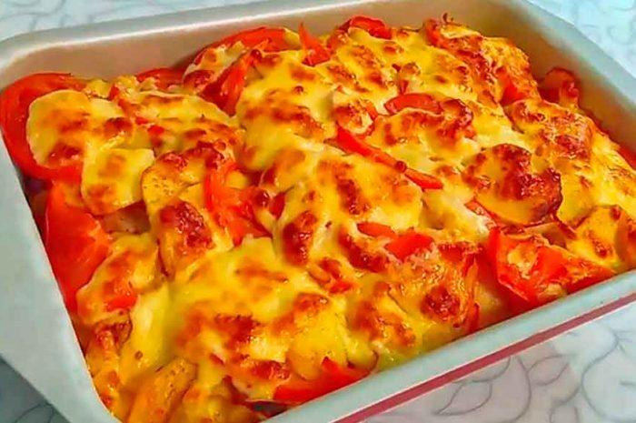 Курица по-французски в духовке с картошкой