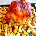 Курица на банке в духовке