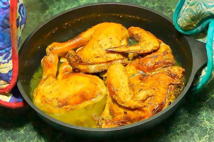Курица в пиве, вкусное блюдо в духовке