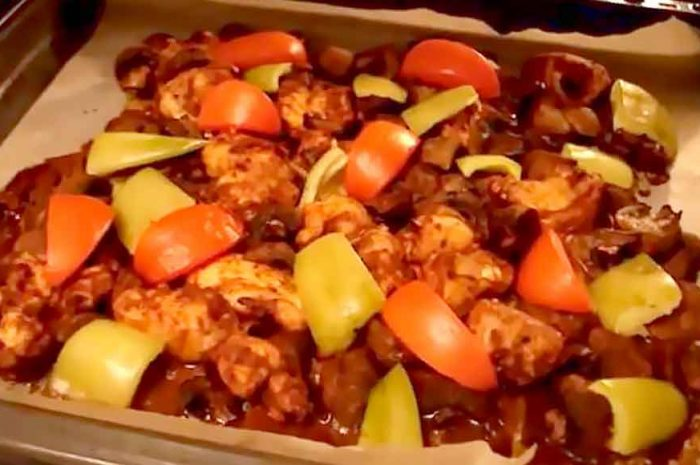 Курица с грибами, рецепт из куриной грудки