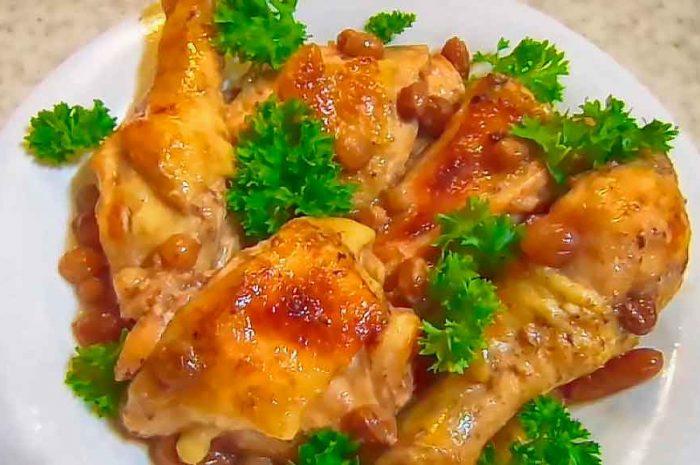 Курица в темном пиве, уникальное блюдо с изюмом
