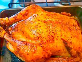 Фаршированная курица в соевом соусе