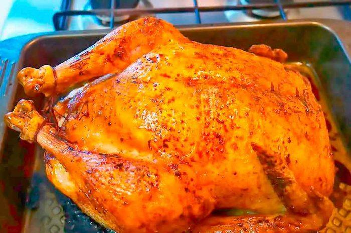 Курица фаршированная рисом в духовке с сухофруктами