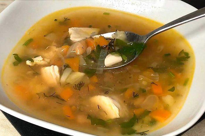 Фасолевый суп с курицей вкусное первое блюдо