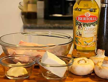 Продукты для курицы с грибами