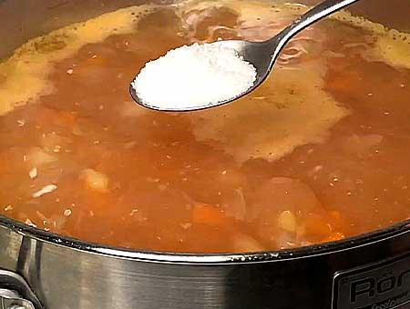 Солим фасолевый суп с курицей, по своему вкусу