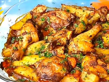 Картошка в духовке с золотистой корочкой