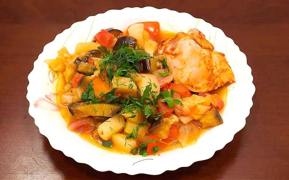 Курица с овощами в мультиварке рецепт простого блюда
