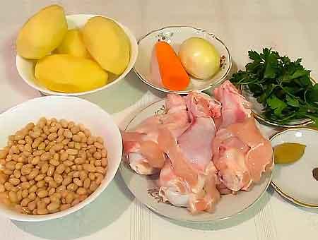 Продукты для фасолевого супа