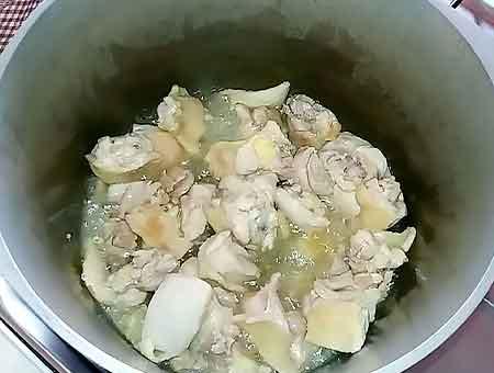 Жарим курицу в казане на мале