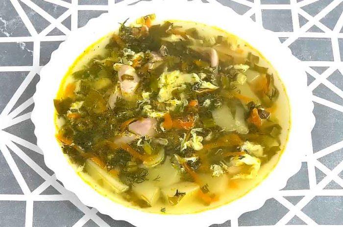 Щавелевый суп с курицей вкусное зеленое угощение