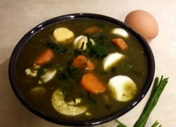щавелевый суп с куриным мясом