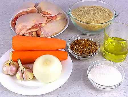 продукты необходимые для плова