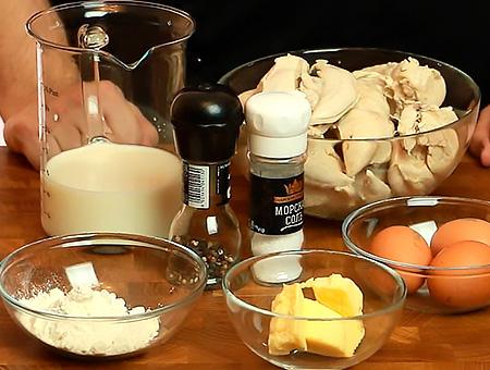 подготовка продуктов для куриного суфле