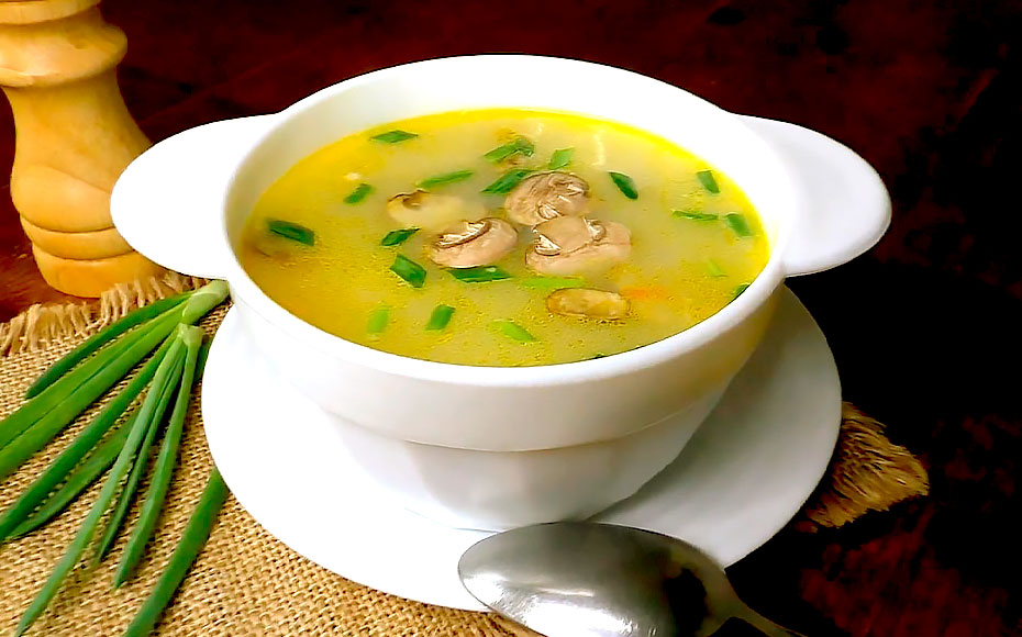 мисо суп с курицей и грибами