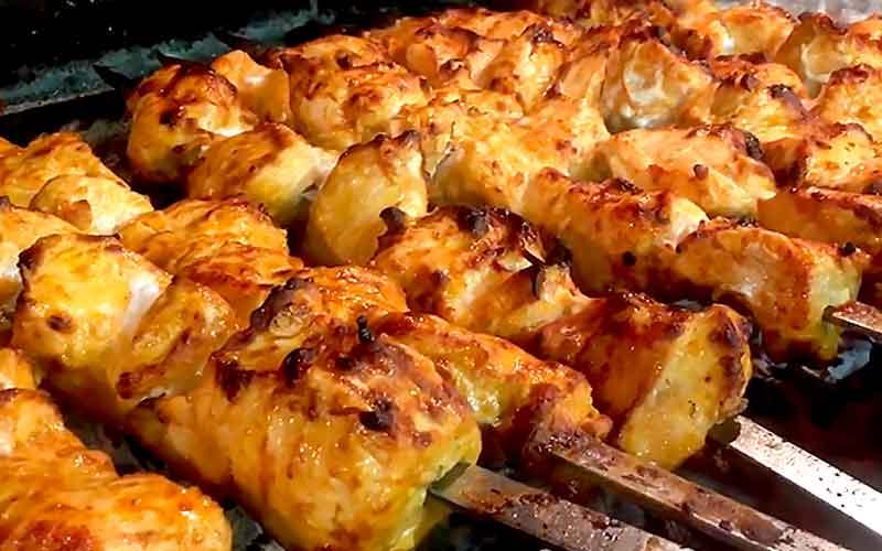 шашлык из куриного филе в маринаде