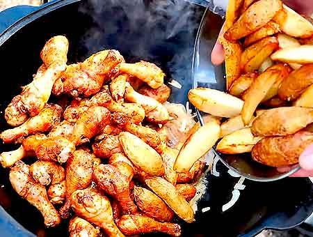 вслед за курицей кладем картошку