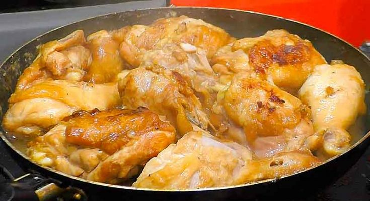 курица по-еврейски с луком и содой