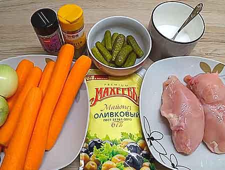 очередная подготовка продуктов для салата обжорка