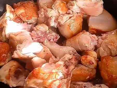 жарим курицу до золотистости