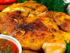 рецепт курицы табака в духовке с корочкой