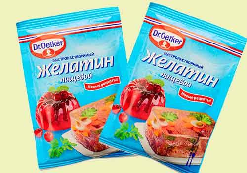 пакетики с желатином по 30 грамм