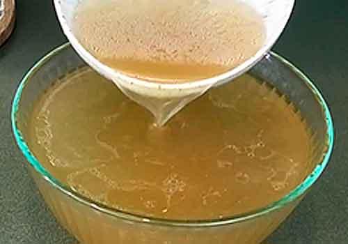 переливание желатина в бульон