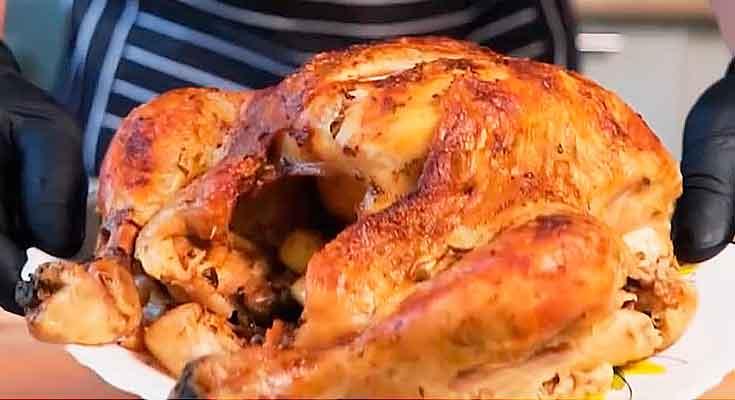 вкусная курица запеченная в фольге