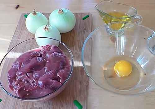 лук яйца и печень для приготовления