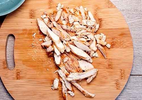 нарезание курицы