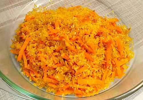 заполнение формы рисом