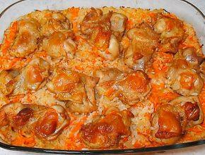 курица с рисом запеченная под фольгой