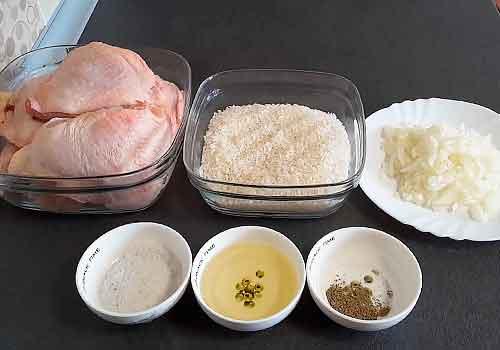 набор продуктов для блюда